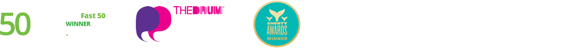 Awards- Deloitte Fast 50 2016 UK Winner, The DRUM social buzz awards, Shorty awards finalist, CIM Marketing Excellence Awards 2017 Finalist - best use of social media