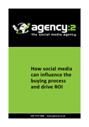 How social media can influence the buying process and drive ROI