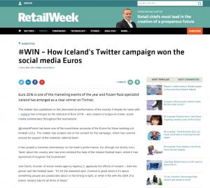Social Media campaign, Retail Week