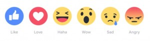 facebook reactions for brands 2016 likes